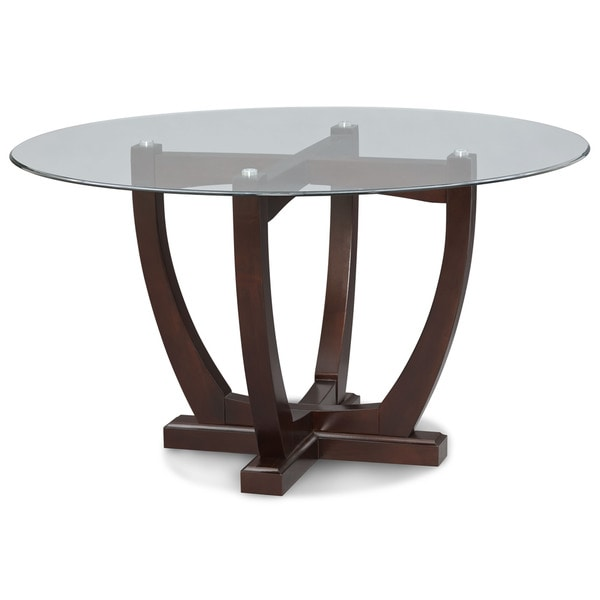 art van adelle glass top table