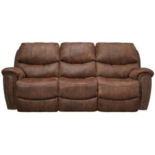 Art Van Richmond Brown Polyester Power Reclining Sofa