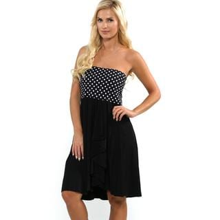 Profile by Gottex Women's Black and White Tea At 3 Soft Lycra Skirt Cover-up