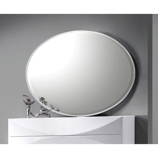Bordeaux Gloss White Accent Mirror