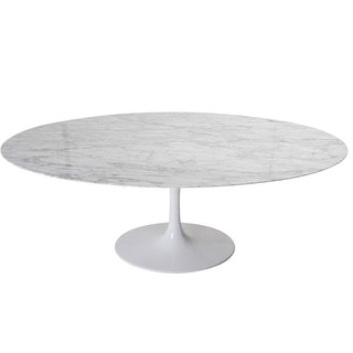 Lily Marble Oval Table