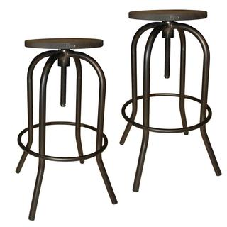 Gunmetal Arlo Adjustable Industrial style Stool