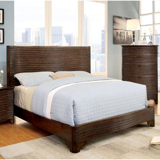 Furniture of America Titanean Textured Rustic Platform Bed