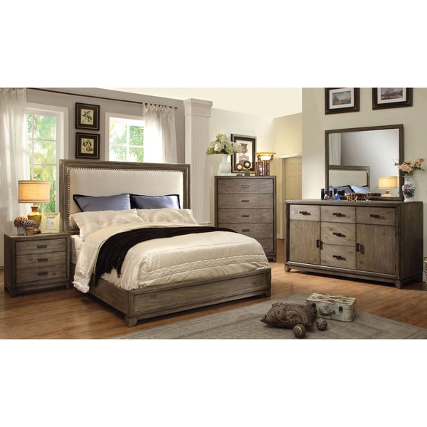 Furniture Of America Arian Rustic 4 Piece Natural Ash Bedroom Set 17135213