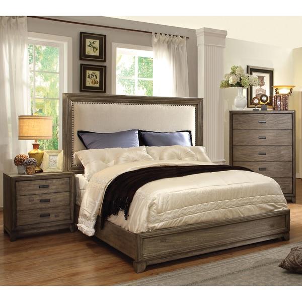 furniture of america arian rustic 3 piece natural ash bedroom set