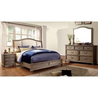 Furniture of America Minka II Rustic Grey 4-Piece Bedroom Set
