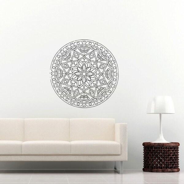 Mandala Wall Decal Namaste Flower