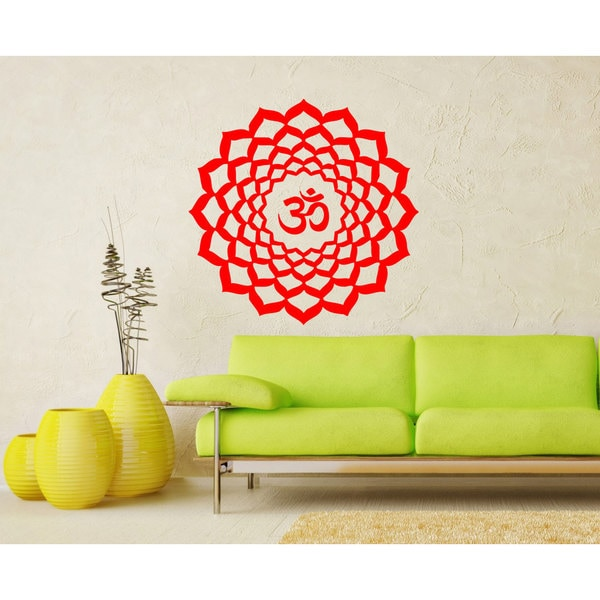 Vinyl Decal Crown Chakra Religion Faith Symbol