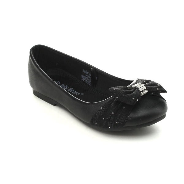 Jelly Beans COCA Girls Slip-on Glitter Bows Dress Shoes