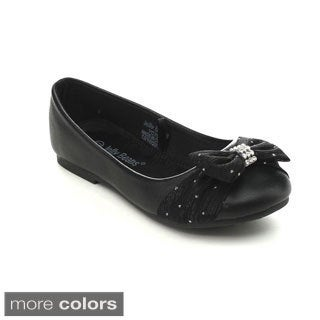 Jelly Beans COCA Girls Slip-on Glitter Bows Dress Shoes