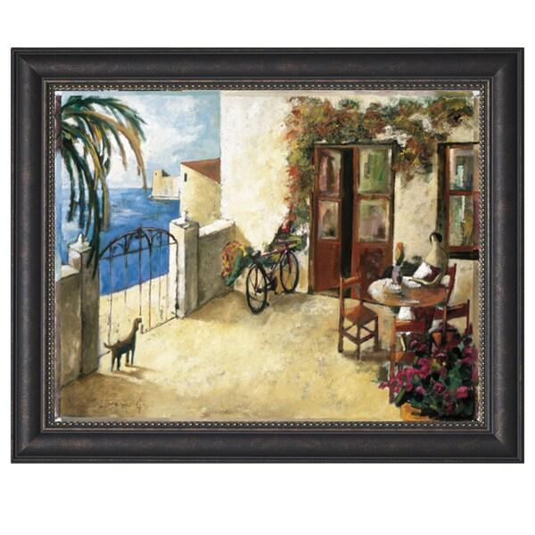 Dider Loureno-Perro y Bicicileta 44 x 34 Framed Art Print