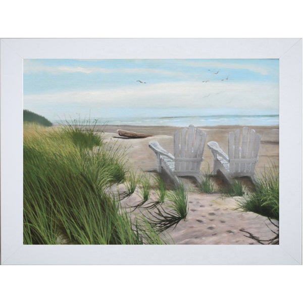 Julie Peterson-Perfect Spot On The Beach 28 x 22 Framed Art Print
