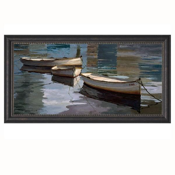 Poch Romeu-El Descanso de las Tres Barcas 34 x 19 Framed Art Print