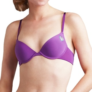 """Prestige Biatta"" Purple Microfiber Push up Bra with Cut out Heart"
