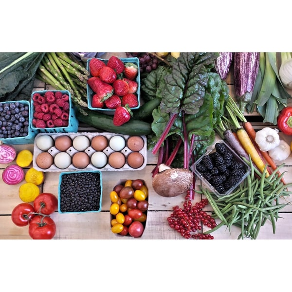 Rustic Roots Delivery Organic Mixed Produce and Fresh Eggs Bundle (Local Delivery)