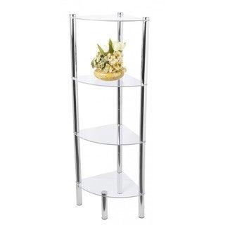 "Home Basics 43"" High Four Shelf Shelving Unit"