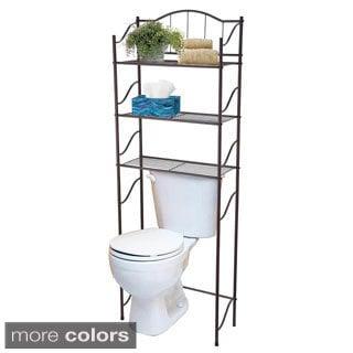 Home Basics Space Saver Three-Shelf Bathroom Shelf