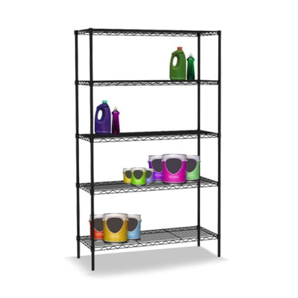 "Sunbeam Wire 48"" High Five Shelf Shelving Unit"