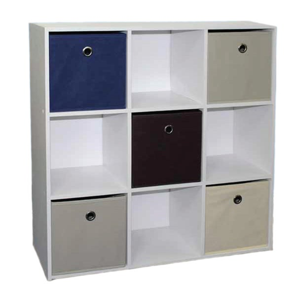 Home Basics Cube Shelves with 5 Non-Woven Bins