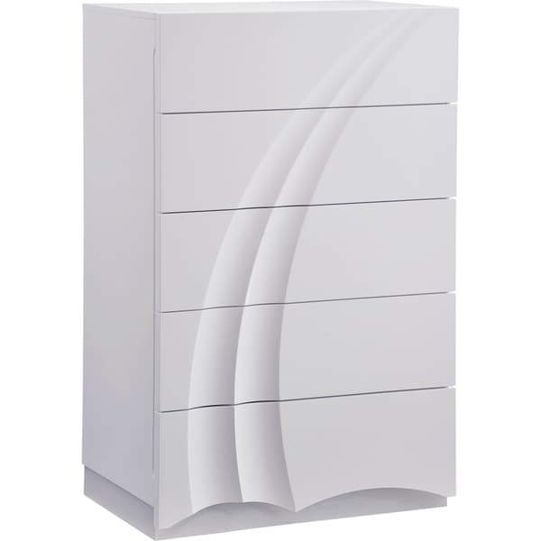 White High Gloss Chest
