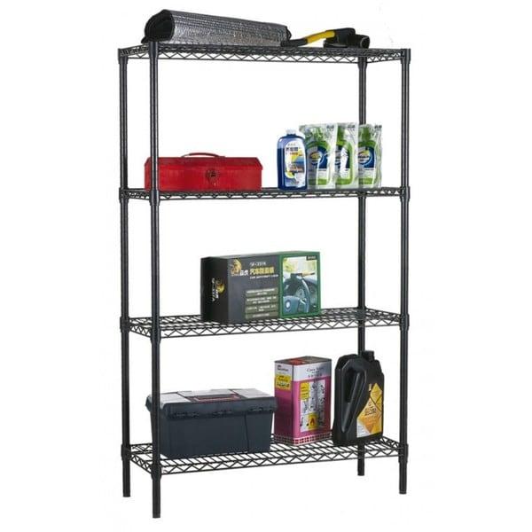 """Home Basics Wire 59"""" High Four Shelf Shelving Unit"""