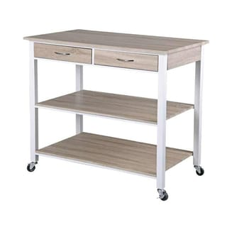 Home Basics Kitchen Cart with Two Drawers