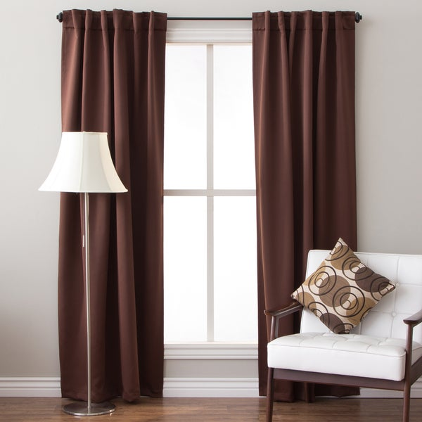 84 Inch Insulated Back Tab Blackout Curtain Panel Pair (As Is Item)