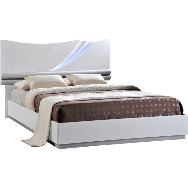 White High Gloss Queen Bed