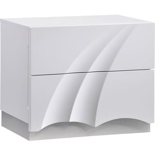White High Gloss Nightstand