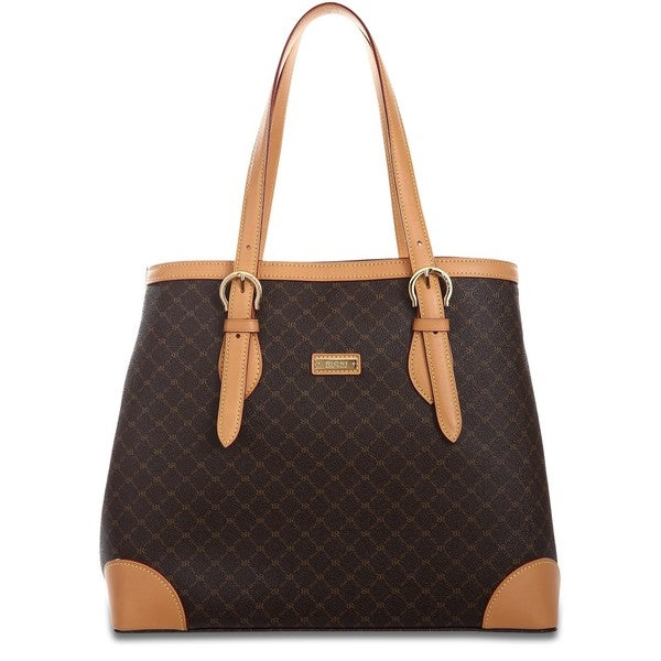 Rioni Signature Brown North-South Tote Bag