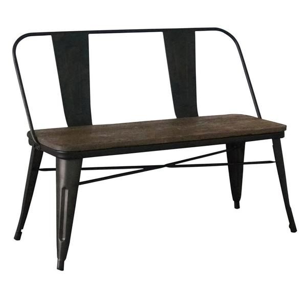 Modus Gunmetal Industrial Double Bench