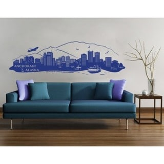 Anchorage, Alaska Skyline Wall Decal