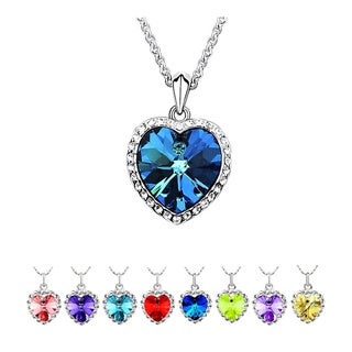 Princess Ice Platinum-plated Heart Of The Ocean Crystal Pendant
