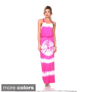 Stanzino Women's Tie Dye Sleeveless Maxi Dress