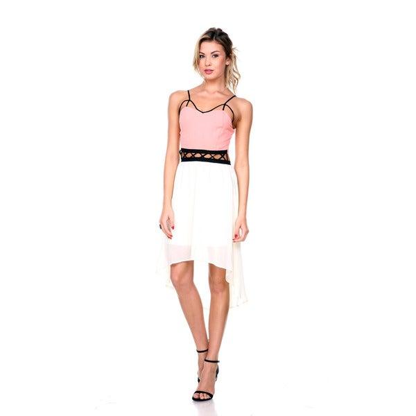 Stanzino Women's Cut-out High Low Tank Dress