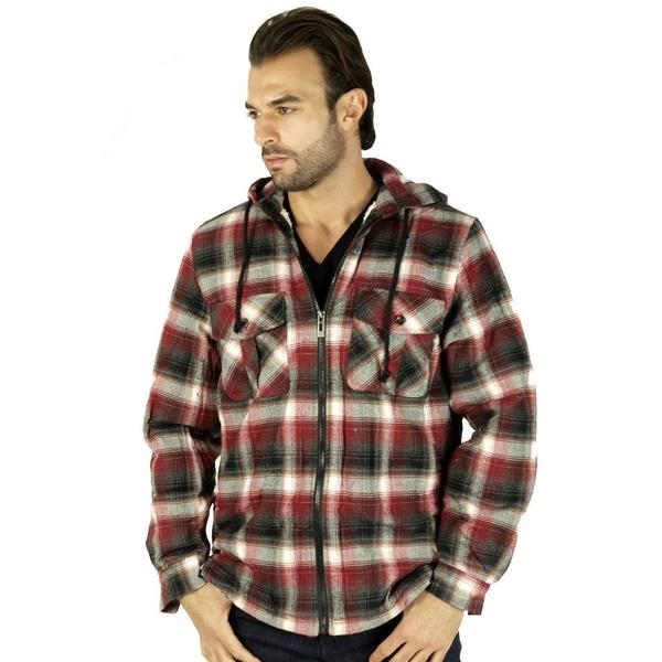 Men's Sherpa Lined Flannel Jacket