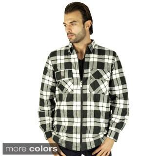 Mens Sherpa-Lined Flannel Jacket