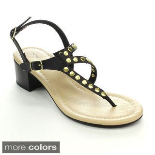 MARK & MADDUX STANLEY-09 Women's Strappy Gladiator Slingback Heels