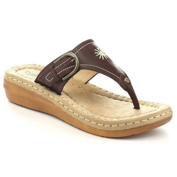 City Classified Travis Women's T-Strap Flip Flops Thong Sandal