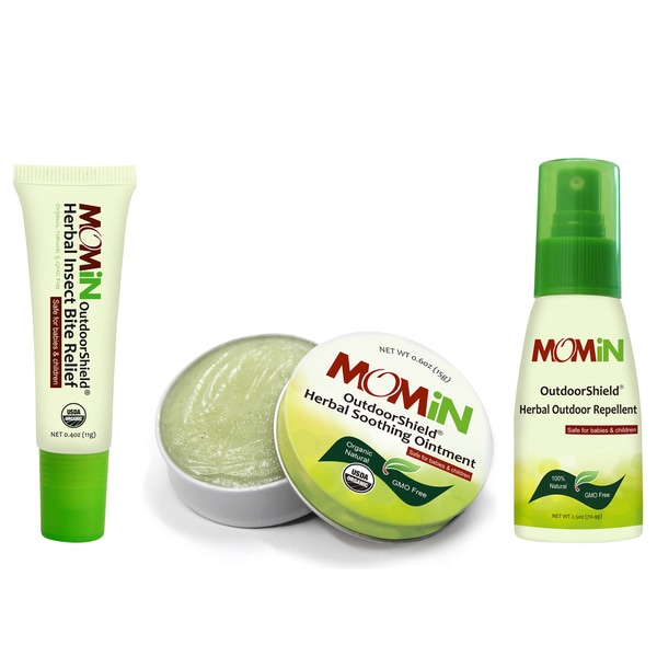 MOMiN OutdoorShield Soothing Ointment, Bite Relief & Repellent Bundle