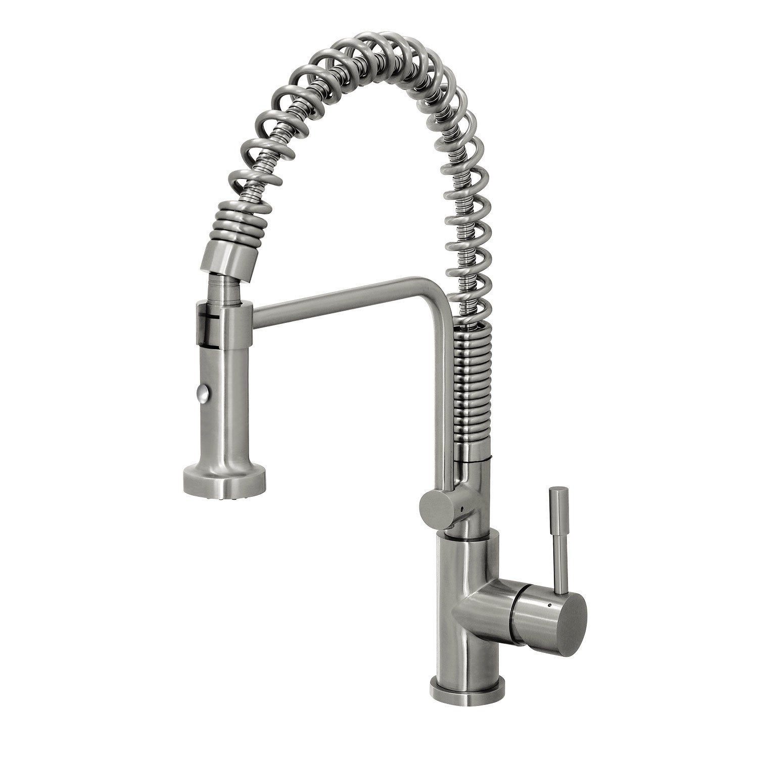 geyser stainless steel commercial style coiled spring ruvati rvf1216st commercial style pullout spray kitchen