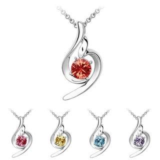 Princess Ice Platinum-plated Elegant Crystal Pendant