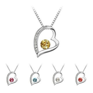 Princess Ice Platinum-plated Crystal Heart Pendant
