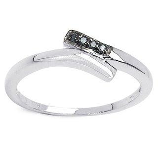 Malaika Sterling Silver Blue Diamond Accent Ring