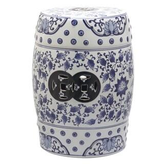 Safavieh Tao Blue And White Painting Garden Stool