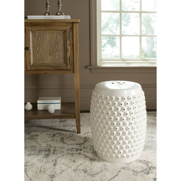 Safavieh Stella Cream Nail Head Stool