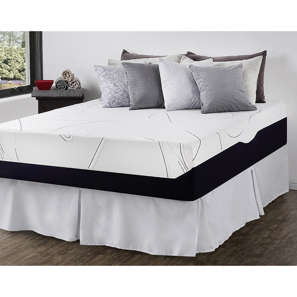 Priage 13-inch King-size Gel Memory Foam Mattress and SmartBase Foundation Set
