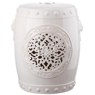Safavieh Flower Cream Drum Garden Stool