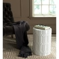 Safavieh Melody Antique White Garden Stool