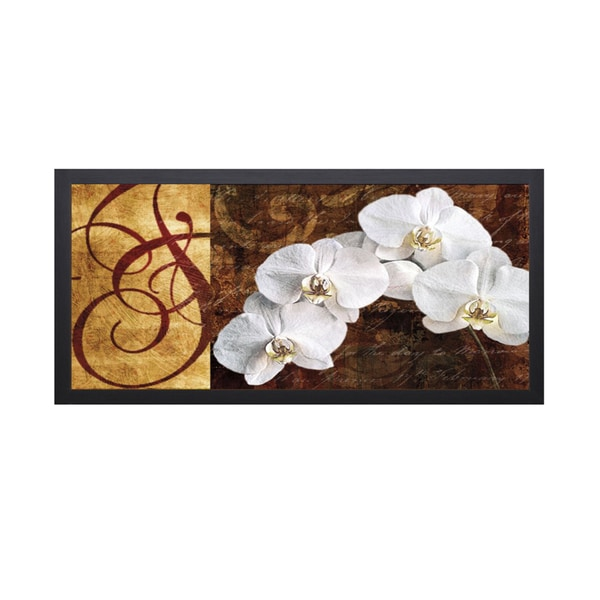 Keith Mallet -Moonlit Orchids 40 x 22 Framed Art Print